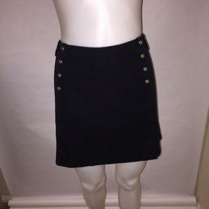 Ideology Women's Black Front Snap Mini Skirt Sz.14